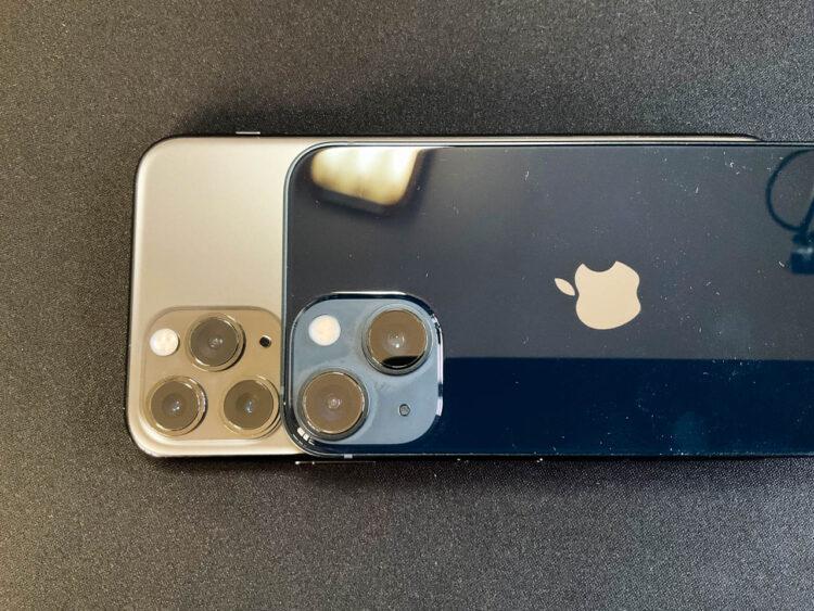 iPhone13 miniとiPhone11 Pro
